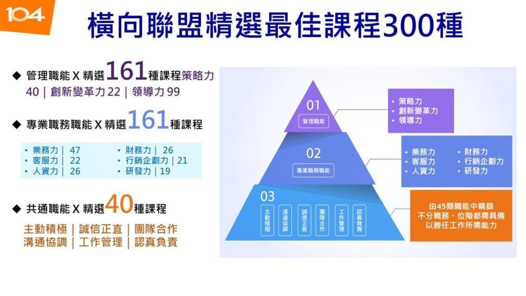 圖七:104職能發展系列課程架構