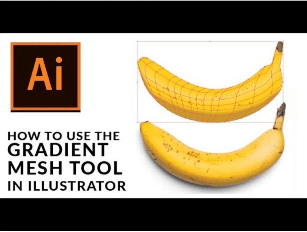 用漸層網格工具做香蕉