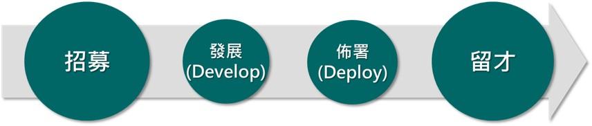 圖四傳統的人才管理模式