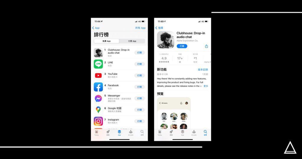 Clubhouse 在 iOS App排名