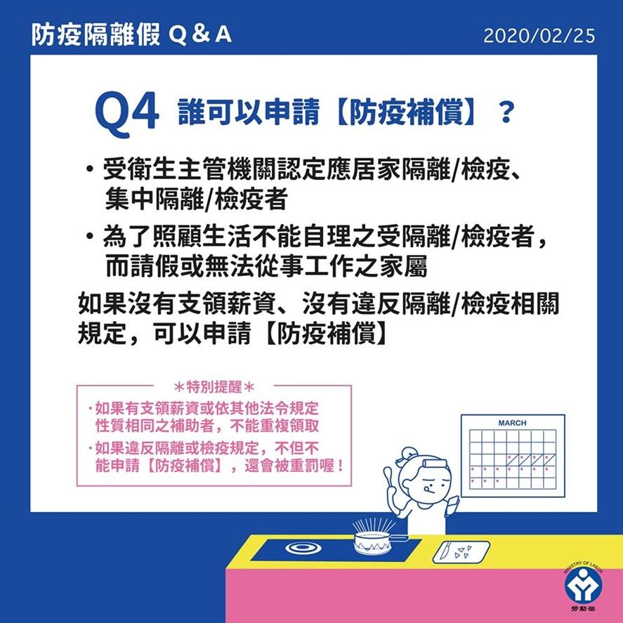 Q4:什麼情況適用【防疫補償】